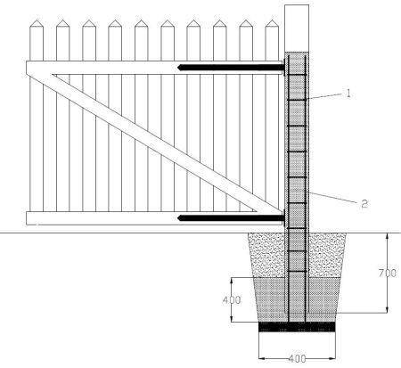 brama wjazdowa dwuskrzydłowa
